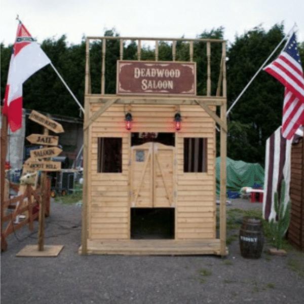 wild west game stalls