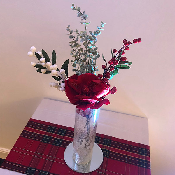 christmas table centre hire