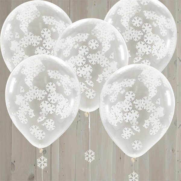 Snow Confetti Balloon Table Centres