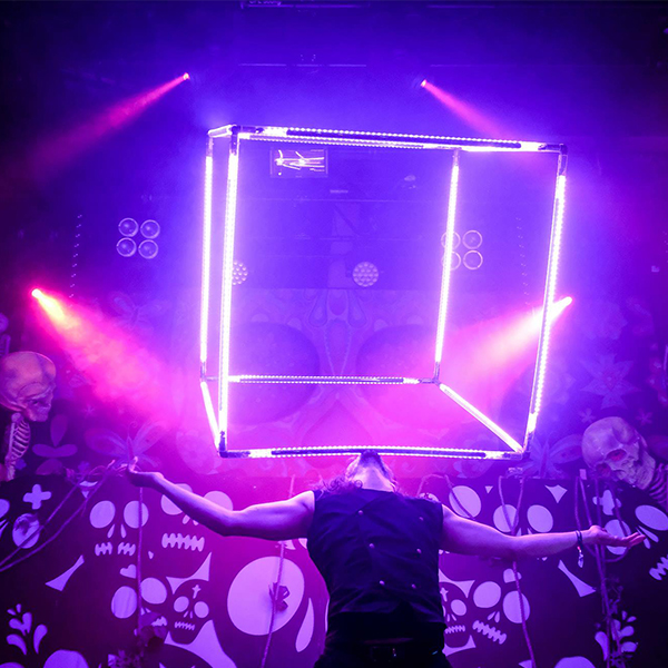 led cube performer